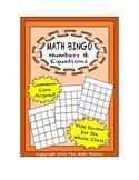"Common Core Math Games - ""Math BINGO"" Numbers & Equations - 7th Grade"