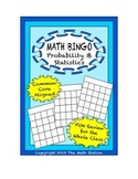 "Common Core Math Games - ""Math BINGO"" Probability & Statistics - 7th Grade"