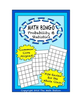 "Common Core Math Games - ""Math BINGO"" Probability & Statis"