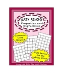 "Common Core Math Games - ""Math BINGO"" Properties & Expressions - 6th Grade"
