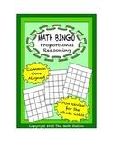 "Common Core Math Games - ""Math BINGO"" Proportional Reasoning - 7th Grade"