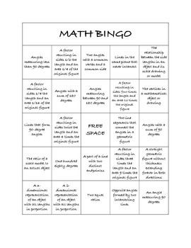 "Common Core Math Games - ""Math BINGO"" Scale & Construction - 7th Grade"