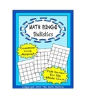 "Common Core Math Games - ""Math BINGO"" Statistics - 6th Grade"