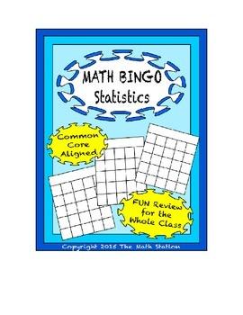 """Common Core Math Games - """"Math BINGO"""" Statistics - 6th Grade"""