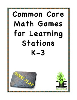 Common Core Math Games for Learning Stations