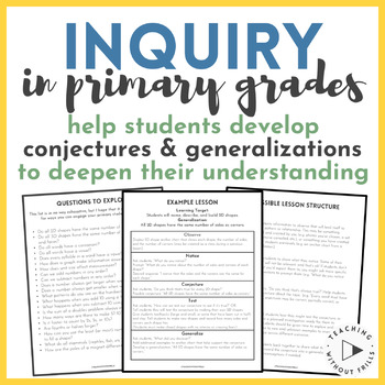 |FREE| Inquiry in Primary Grades: Making Conjectures & Generalizations