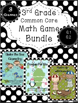 Geometry BUNDLE - Common Core Math 3 Game Pack 3.G.1 & 2