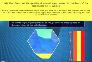 Common Core Math Activity (Building a kaleidoscope) – Surface Area of 3D figures