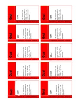 Common Core Math Goal Cards Complete Set {2nd Grade}