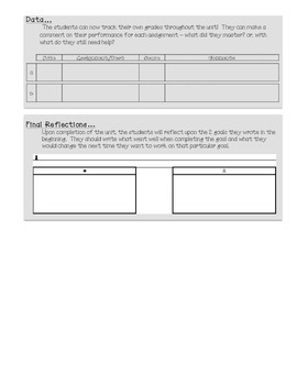 Common Core Math Goal Page - Analyzing Statistics