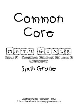 Common Core Math Goal Page - Surface Area of Prisms & Pyramids