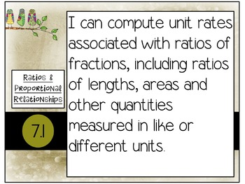 7th Grade Math Common Core Posters - Funky Owl Theme