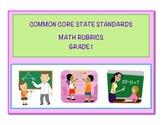 Common Core Math Grade 1 Rubrics