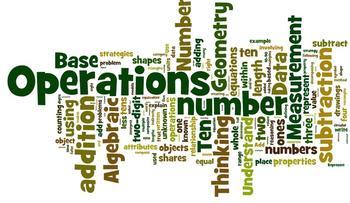Common Core Math Grade 1 Wordle