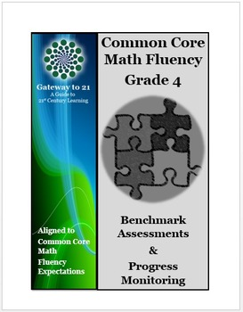 Common Core Math Grade 4 Assessment  (Fluency Benchmark and Progress Monitoring)