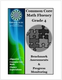 Common Core Math Grade 4 Assessment  (Fluency Benchmark an