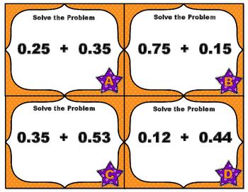 Common Core Math Grade 5 - Adding Decimals Hundredths with Visuals