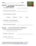Common Core Math Grade 5 Place Value and Expanded Form Homework