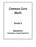 6th Grade Common Core Math Geometry Activities