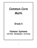 6th Grade Common Core Math Number Systems Unit