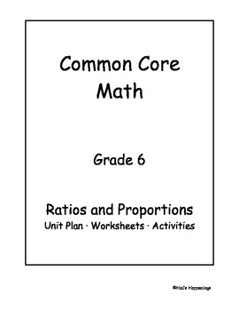Worksheets Ratios 6th Grade Worksheets 6th grade common core math ratios and by jeni hall teachers proportional reasoning unit