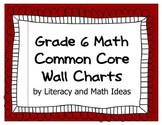 Common Core Math Grade 6 Wall Charts