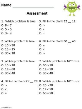 Common Core Math: Greater Than, Less Than, Equal To