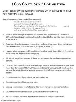 Common Core Math Homework for Kindergarten