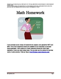 Common Core Math Homework