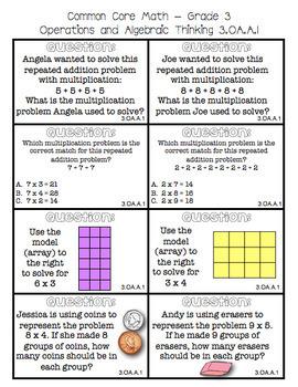 Common Core Math Hot Seats (Grade 3)