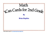 I Can Math Cards for 2nd Grade Common Core