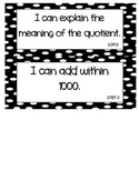 """Common Core Math """"I Can"""" Statements 3rd Grade- Black and White"""