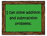 """Common Core Math """"I Can"""" Statements for Second Grade"""