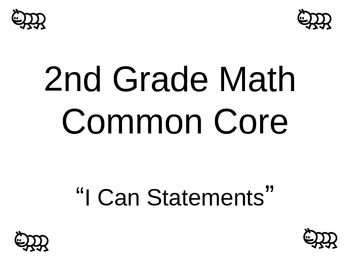 "Common Core Math ""I can statements"""