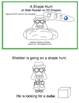 Common Core Math In Kindergarten (Geometry... Story on 3D Shapes)