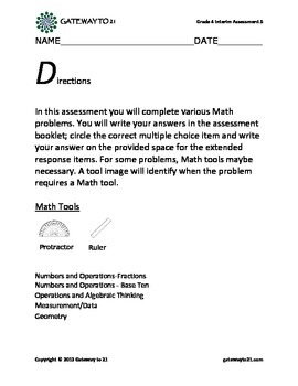 Common Core Math Interim Assessment Grade 4 (5)
