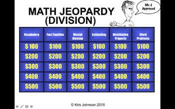 Common Core Math Jeopardy (With Videos) - Division