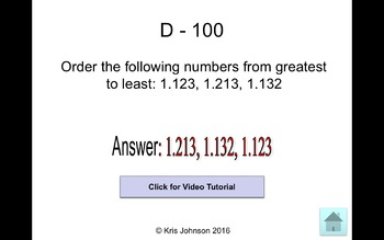 Common Core Math Jeopardy (With Video Tutorials!) - Place Value
