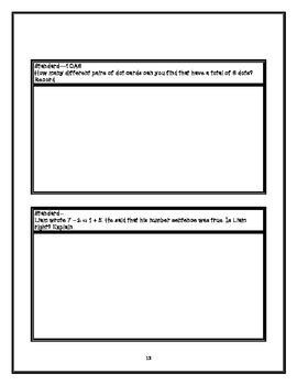 Common Core Math Jornal First Grade