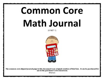 Common Core Math Journal
