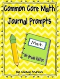 Common Core Math Journal Prompts First Grade
