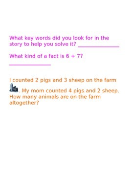 Common Core Math Journal Questions Spring