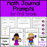 Math Journal Prompts for First Grade - Number of the Day &