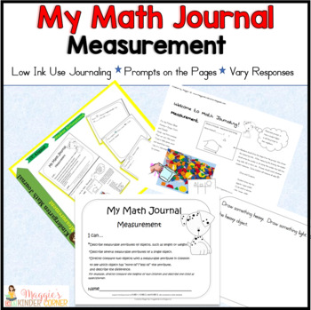 Kindergarten Measurement Journal Aligned to the CC
