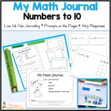 Kindergarten Math Journal - Numbers to 10 -Uses Less Ink