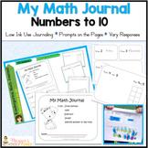 Kindergarten Math Journal Numbers to 10