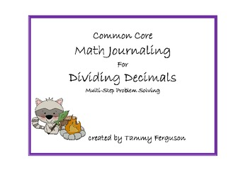 Common Core Math Journaling for Dividing Decimals