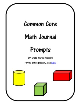 Common Core Math Journals Grade 3 Preview Pack