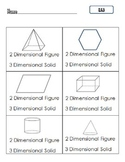 Common Core Math K.G.3 : Two-Dimensional vs Three-Dimensional