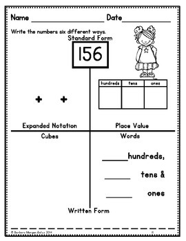 Place Value {KIDS} Multiple Representation to 999
